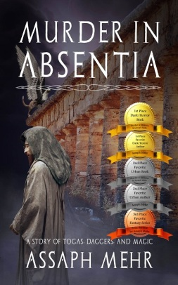 Murder In Absentia - Assaph Mehr - Cover with 5 Awards