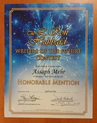 writers of the future - assaph mehr